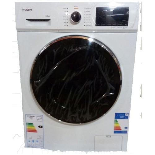 ماشین لباسشویی هیوندای 8کیلویی گیربکسی نقره ای